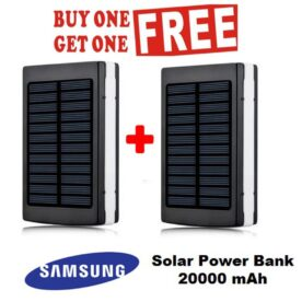 Samsung Solar Power Bank 20,000 Mah Buy 1 Get 1 Free in Pakistan