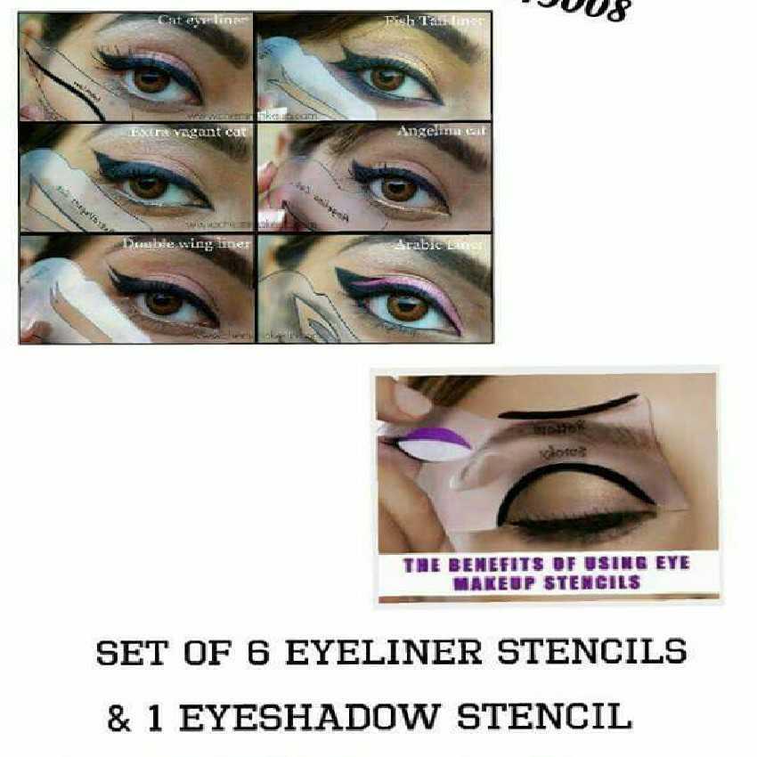 Set of 6 Eyeliner Stencils and 1 Eye Shadow Stencil In Pakistan