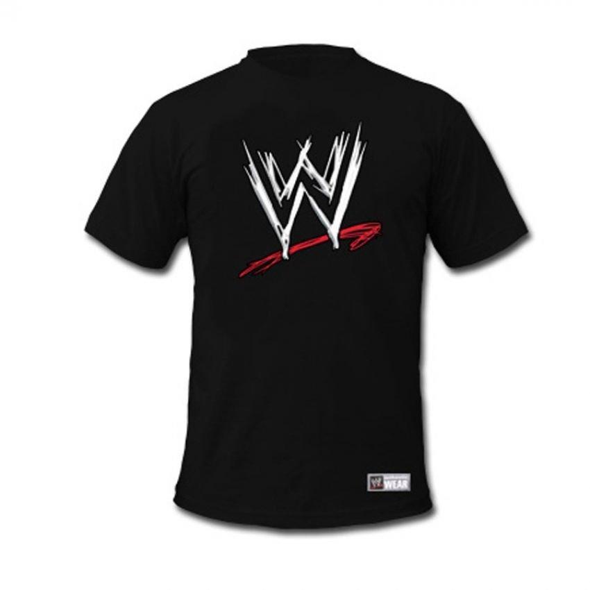 Buy wwe logo t shirt for men black in pakistan for Logo t shirts online