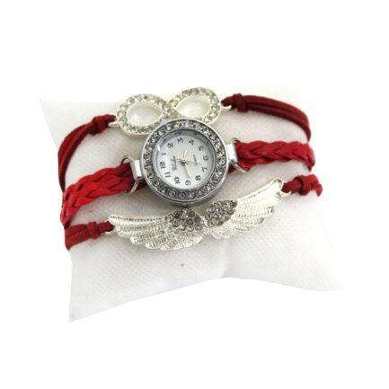 Yilisha Red Bracelet Watch For Women