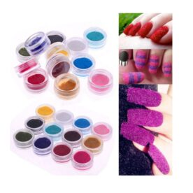 Pack of 12 Velvet Nail Art Glitter Set in Pakistan