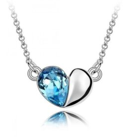 Crystal Love Heart Necklace for Women in Pakistan