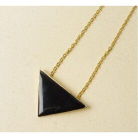 Black Triangle Necklace For Women in Pakistan