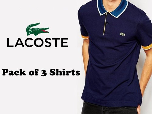 e8d70fb1711 Buy Pack Of 3 Lacoste Polo Shirts Online in Pakistan