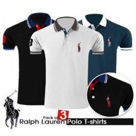 Pack Of 3 Ralph Lauren Polo T-Shirt in Pakistan