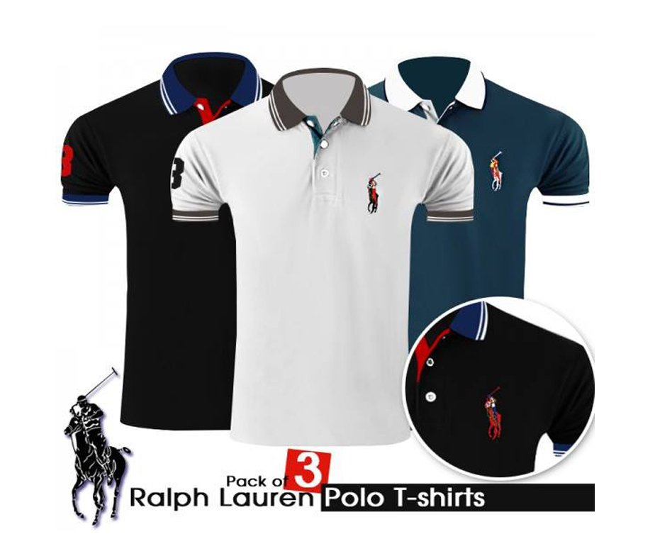 Ralph Of Lauren Pack T Shirt Polo 3 W9H2IbeDYE