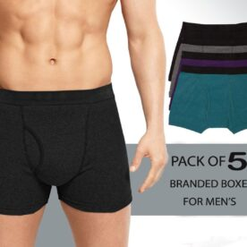 Pack of 5 Men's Boxers Underwear in Pakistan