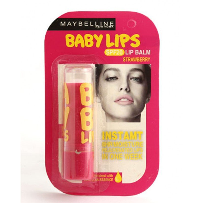 Pack of 4 Maybelline Baby Lip Balms