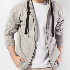 Grey Fleece Heather Grey Hood in Pakistan