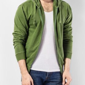Parrot Green Shade Terry Hoodie Zipper in Pakistan