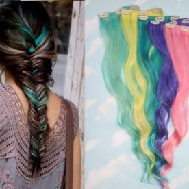 Clip On Colored Hair Extension in Pakistan