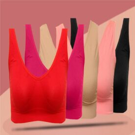 Pack of 5 Aire Bras In Random Colors in Pakistan