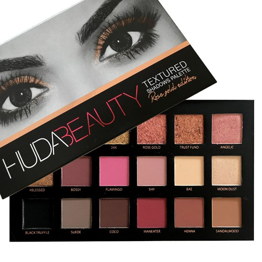Huda Beauty Textured Eye Shadows Palette For Her In Pakistan