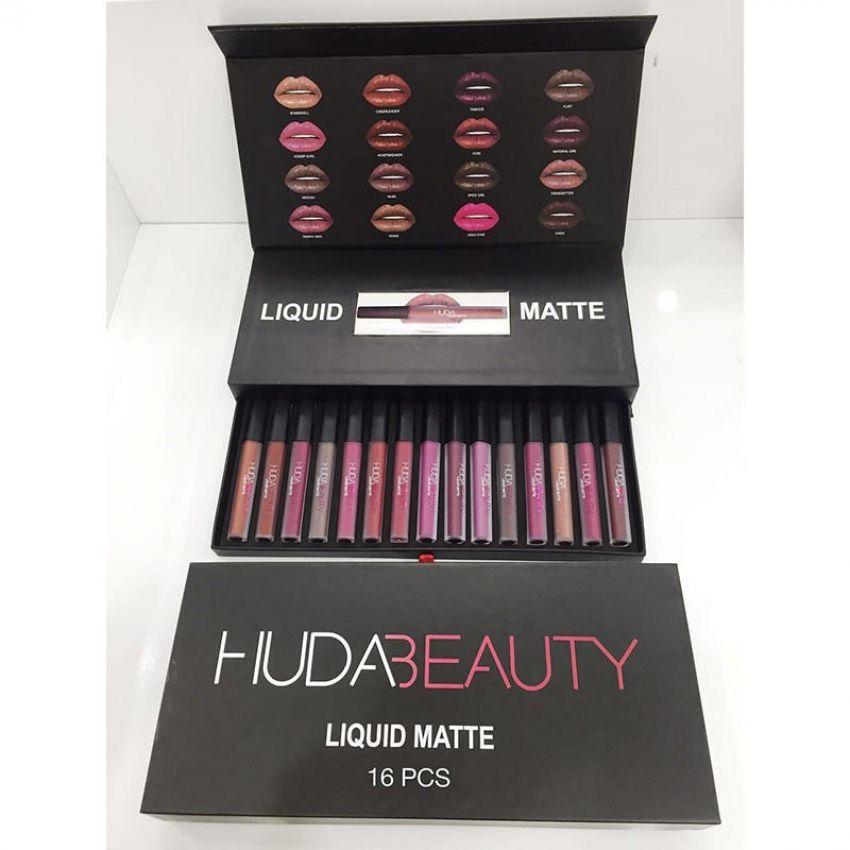 16 Pieces Huda Beauty Liquid Matte Lipsticks in Pakistan