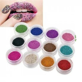 Pack of 12 Nail Art Crystal Micro Beads In Pakistan
