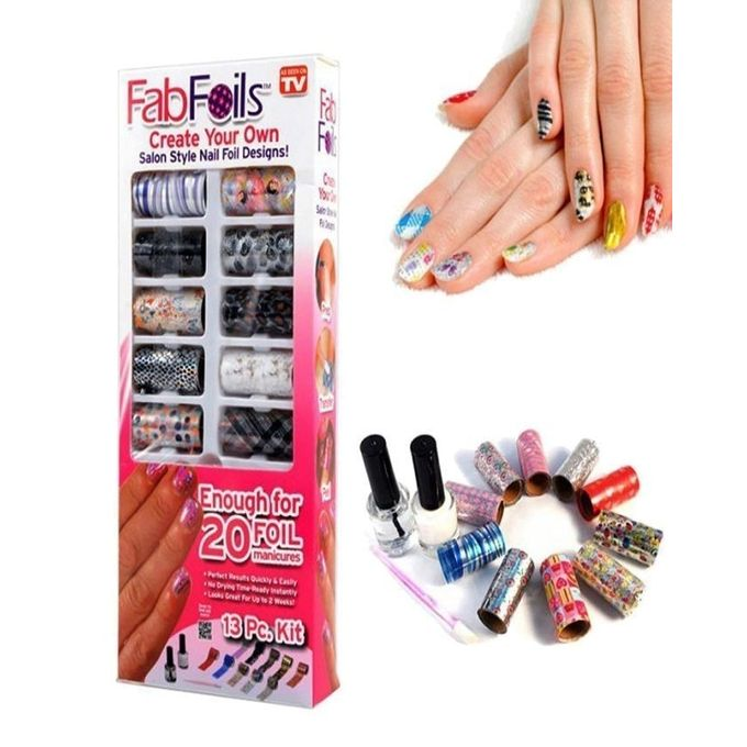Buy Fab Foils Nail Art Kit Online In Pakistan Getnow