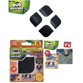 Pack Of 4 - Anti Skid Rug Grippers - Black in Pakistan