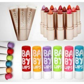 Pack of 12 Naked 3 Lipsticks + 6 Maybelline Lip Balms in Pakistan