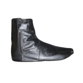 Pair of Black Leather Sock with Zipper in Pakistan