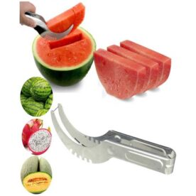Watermelon Stainless Steel Slicer - Silver in Pakistan