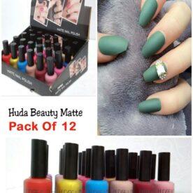 Pack Of 12 Huda Mette Nail Polish in Pakistan
