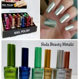 Pack Of 6 Huda Metallic Nail Polish in Pakistan]