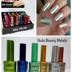 Pack Of 12 Huda Metallic Nail Polish in Pakistan