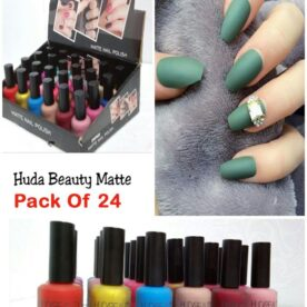 Pack Of 24 Huda Mette Nail Polish in Pakistan