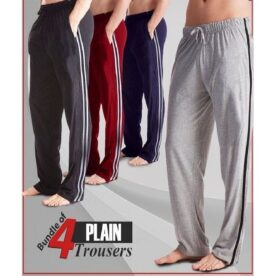 Pack of 4 - Multicolor Cotton Trousers for Men in Pakistan