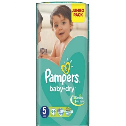 Pampers Baby-Dry Mega Pack -Size 5 - 64 Pieces in Pakistan