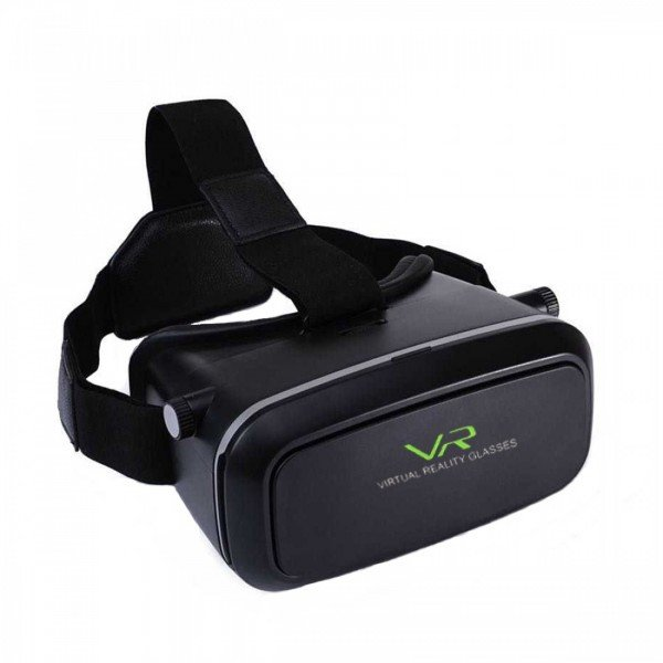 Black Virtual Reality 3D glasses
