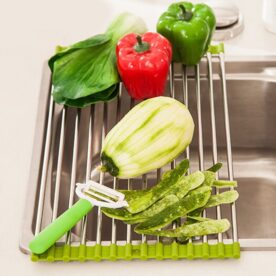Stainless Steel Drainer Tray Sink Dish Drying Rack in Pakistan