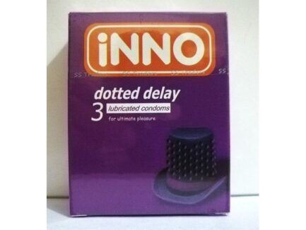 INNO Dotted Delay Lubricated Condoms For Ultimate Pleasure (Pack of 12 Condom)