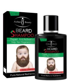 Aichun Beauty deep cleansing Men Liquid Beard shampoo Repair and Activation help hair regeneration