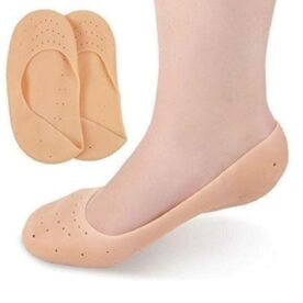 Silicone Heel Protector ,pain relief Anti-Crack Gel Pad Socks Foot Support (Pack of 1)